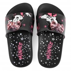 Chinelo Slide Infantil Grendene Minnie Fashion Fun - Preto