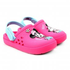 Crocs Disney Love Minnie Babuche Baby Grendene Kids - Rosa