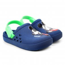 Crocs Disney Love Mickey Babuche Baby Grendene Kids - Azul e Verde