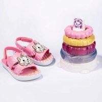 Sandália Disney Gata Marie Pirâmide Sensorial - Rosa