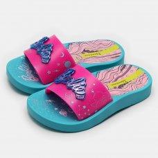 Chinelo Slide Ipanema Infantil Barbie Mística - Rosa e Azul