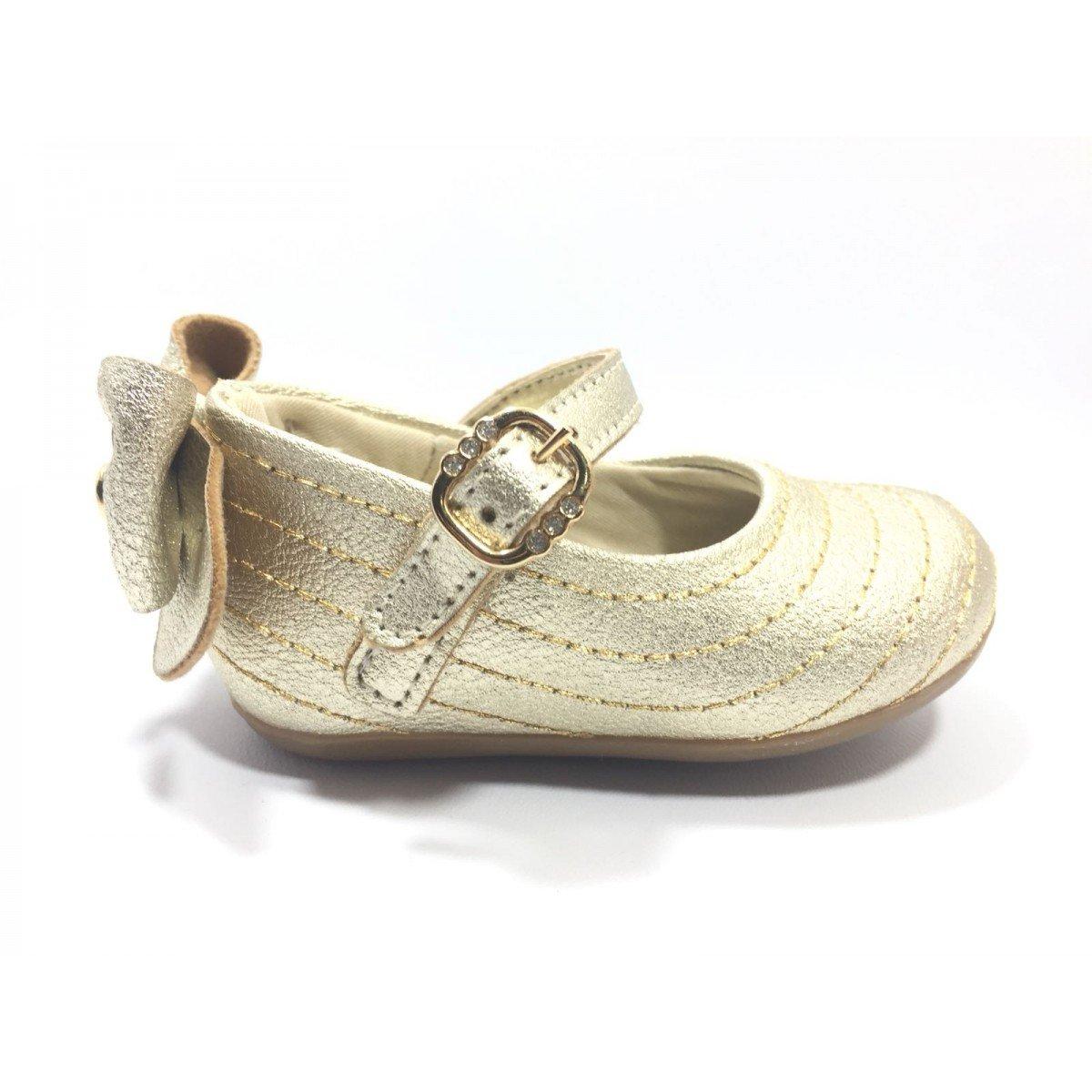 3e1959aa8 Sapatilha Infantil Klin Cravinho Princess Dourada - Compre Agora ...