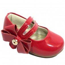 Sapatilha Infantil Klin Cravinho Princess Laço - Vermelha