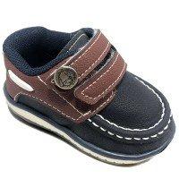 Sapato Klin Cravinho Casual Infantil - Marinho e Vermelho