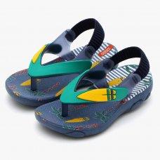 Chinelo Klin Infantil Surf Acqua Print Baby - Marinho