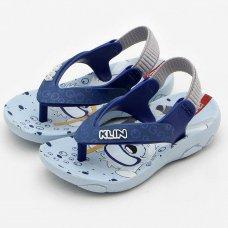 Chinelo Klin Infantil Cachorro Acqua Print - Azul Claro