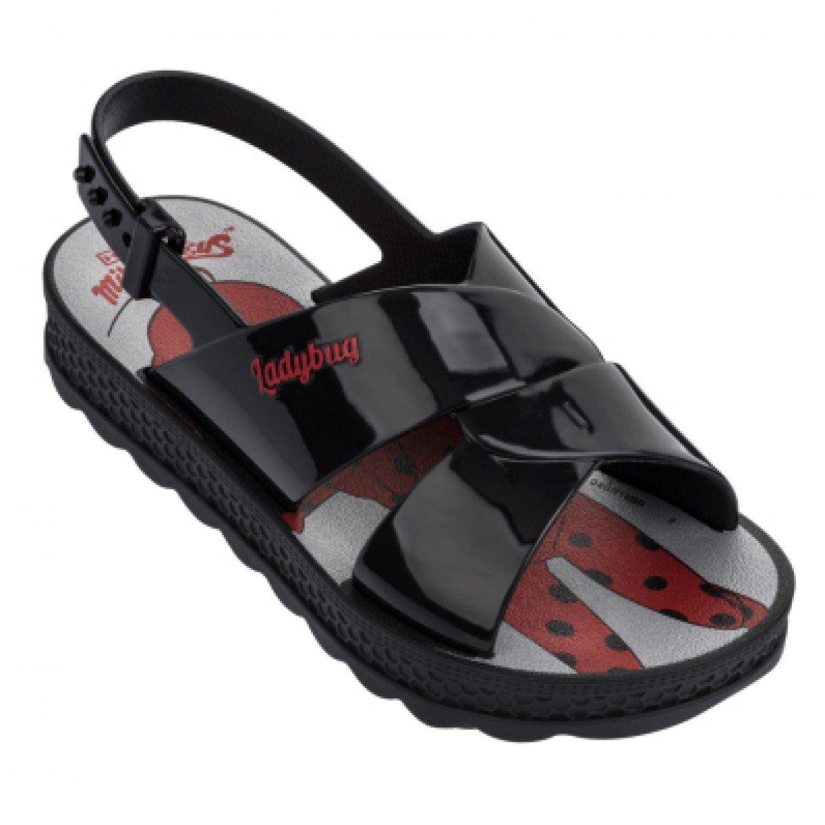 60893a096 Sandália Grendene Ladybug Trip Bag Preta - Compre Agora | Cabana ...