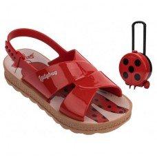 Sandália Grendene Ladybug Trip Bag - Vermelha