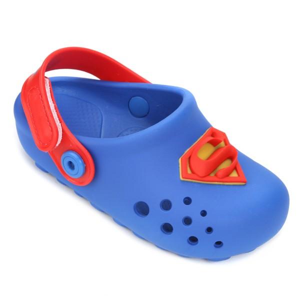 Babuche Grendene Super Man Liga da Justiça - Azul