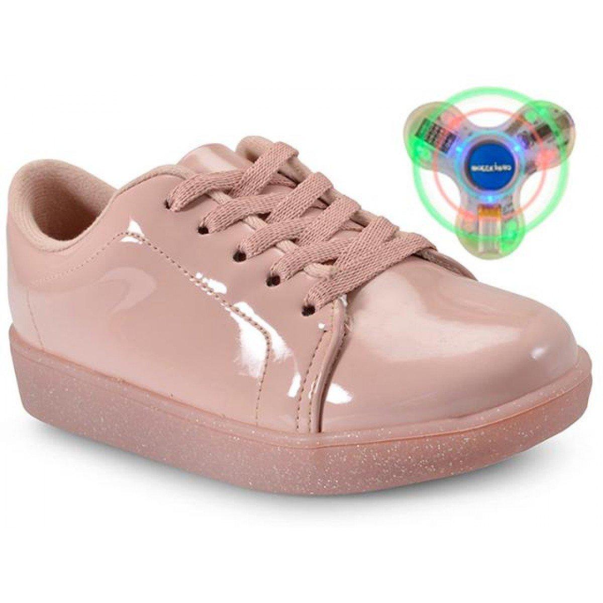 988d564bf4 Tênis Infantil Molekinha Rosa Com Spinner - Compre Agora