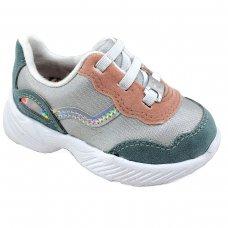 Tênis Infantil Dad Sneaker Molekinha - Branco e Rosa