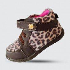 Sapato Pé com Pé Neném Infantil - Café