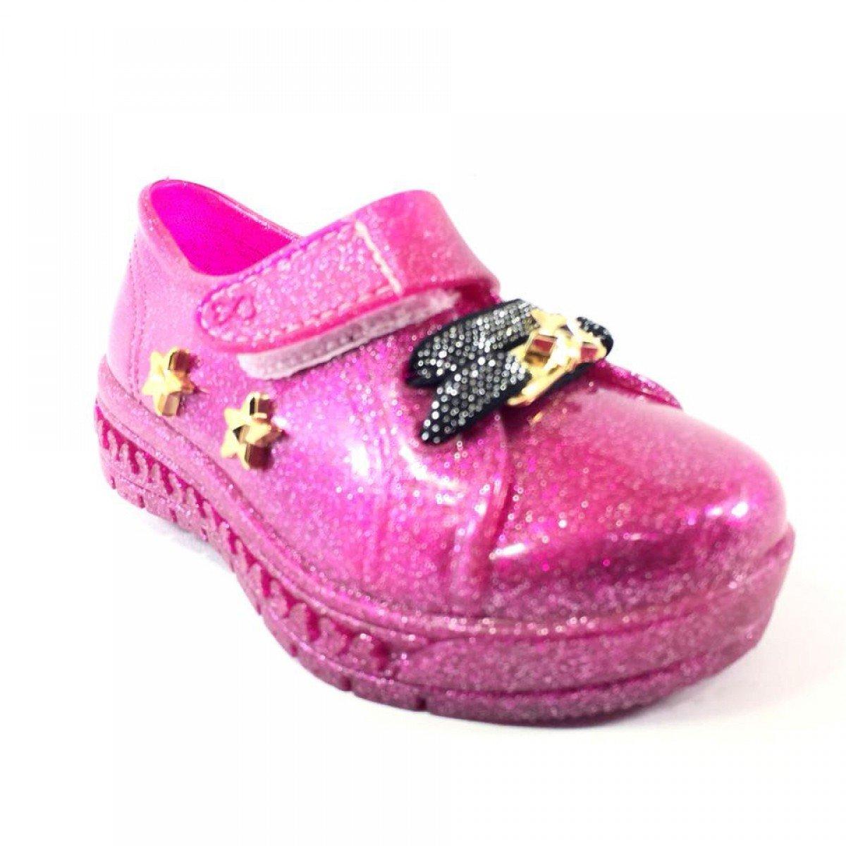 2869443508 Tênis Infantil World Colors Magic Gliter Pink S39 - Compre Agora ...