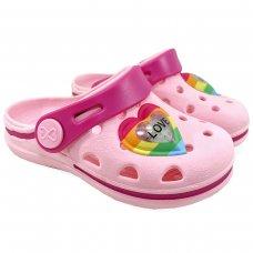 Babuche Infantil LED WorldColors Pop Mini - Rosa Claro