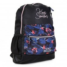 Mochila Kings Sneakers Queen Feminina - Preto