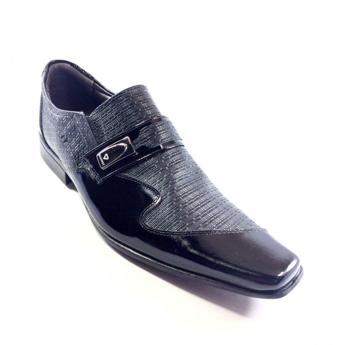 552cbd590eab3 Sapato Social Masculino Calvest Couro Preto - Compre Agora |Cabana ...