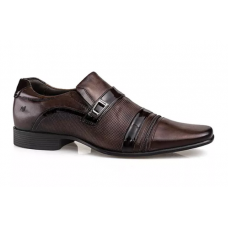 Sapato Social Rafarillo Couro Kit 4 em 1 Masculino - Marrom