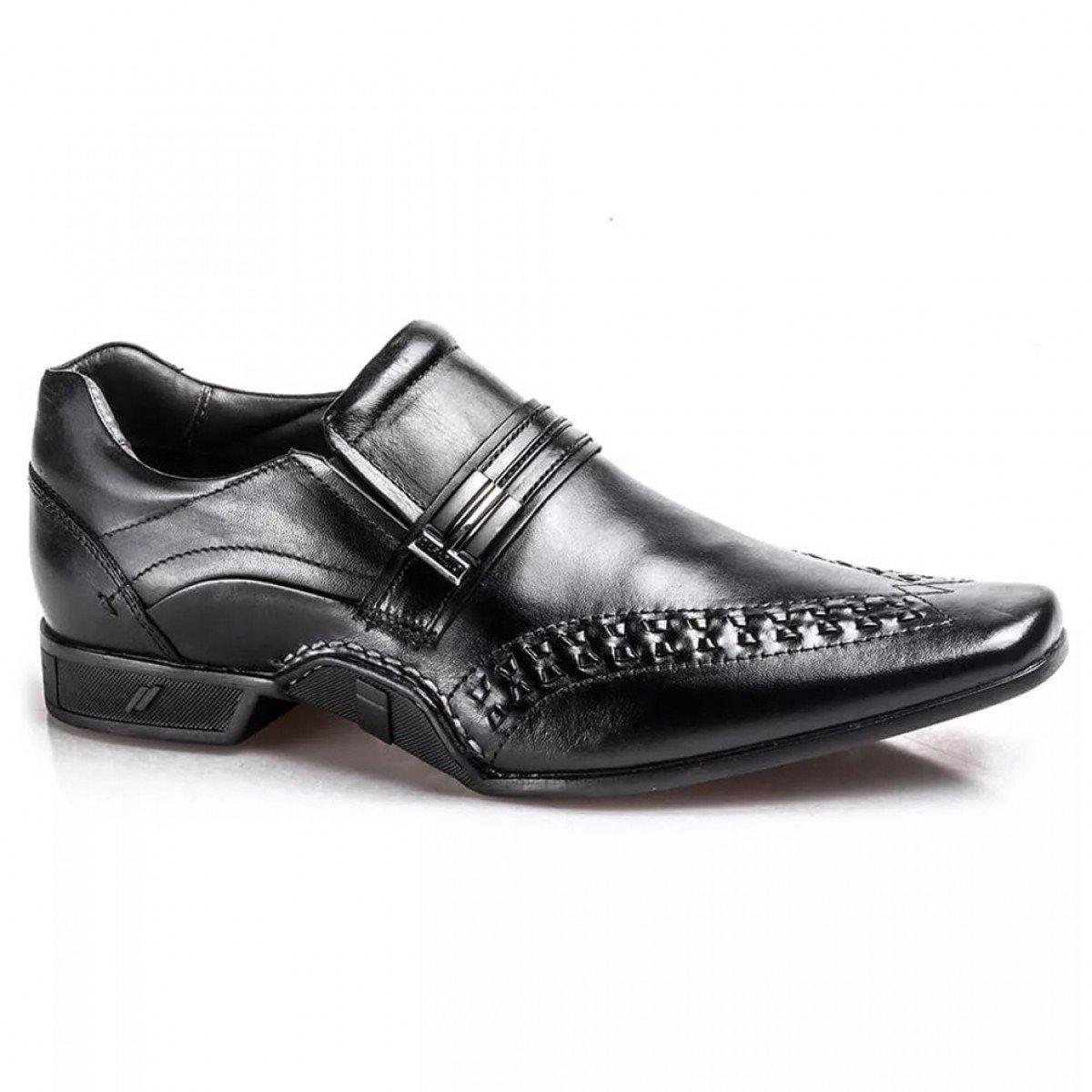4f4acf0bae Sapato Social Rafarillo Couro New Vegas - Preto - Compre Agora ...
