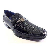 Sapato Social Rafarillo Couro Kit 4 em 1 Masculino - Preto