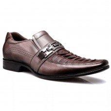 Sapato Social Rafarillo Conforto Couro Masculino - Cappucino