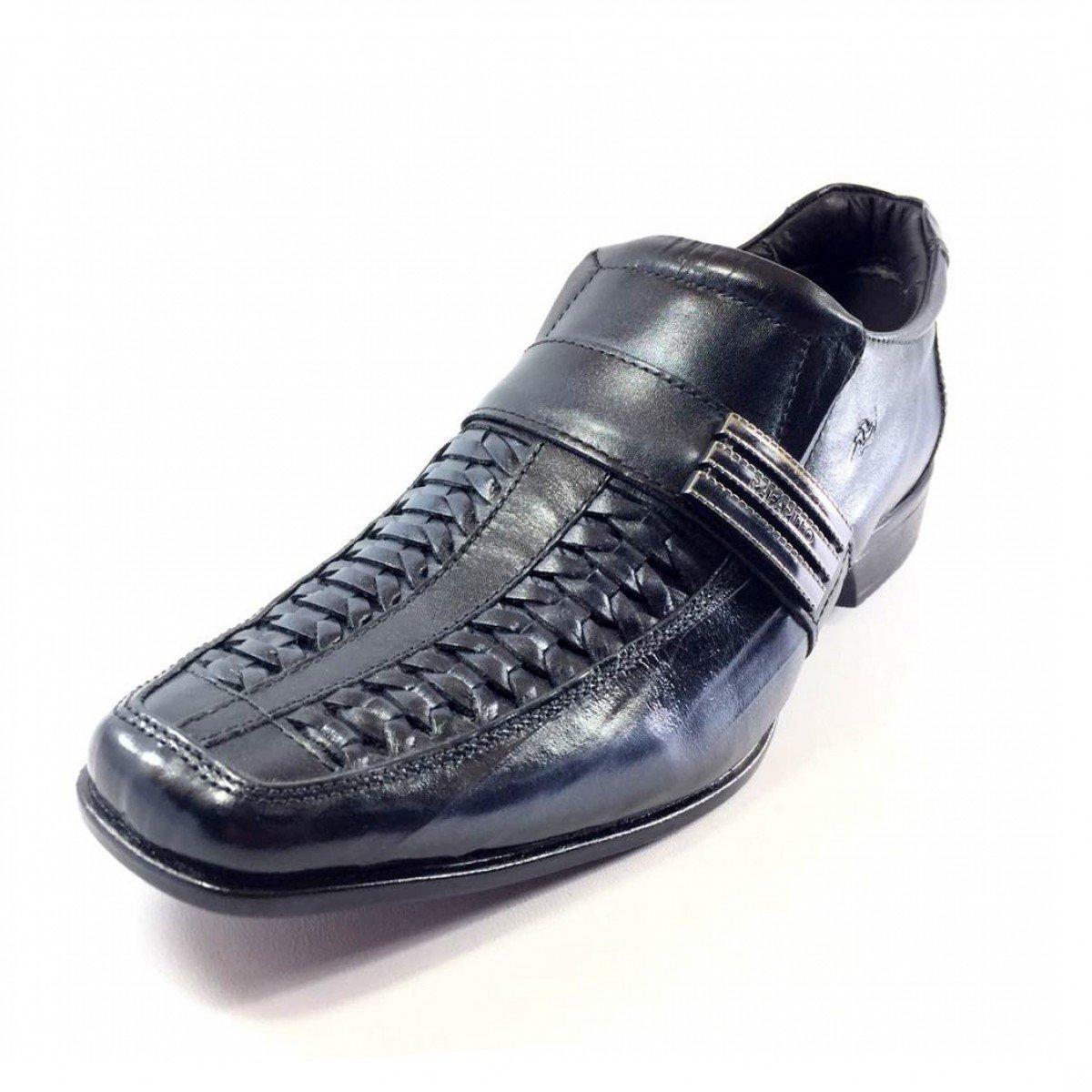 6bba822a9 Sapato Social Rafarillo Conforto Kit 4 em 1 Couro Masculino - Preto ...