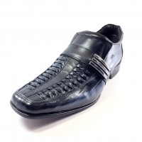 Sapato Social Rafarillo Conforto Kit 4 em 1 Couro Masculino - Preto