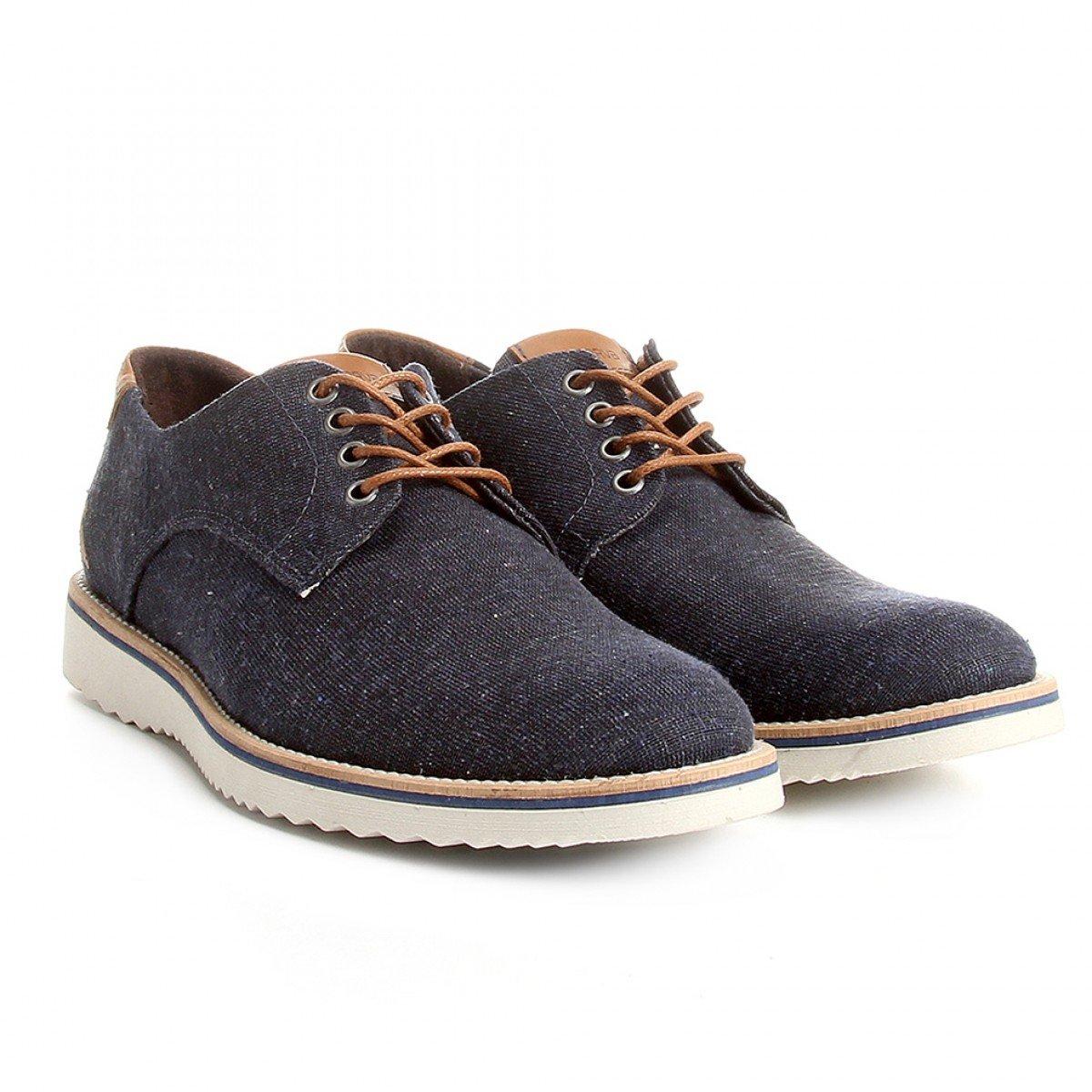 0215718bf4 Sapato Reserva Casual Tratorado Jeans Marinho - Compre Agora ...