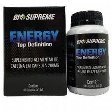 Cafeína Energy Top Definition 200mg Bio Supreme - 60 Cápsulas