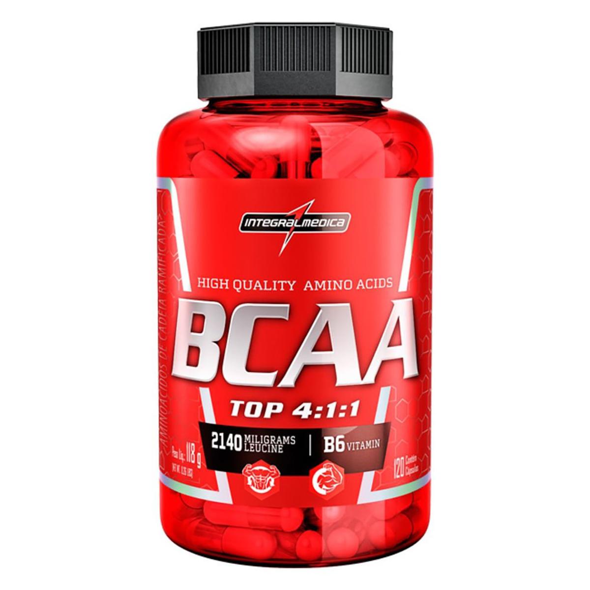 BCAA Top 4.1.1 2140 mg Integralmédica - 120 Cápsulas
