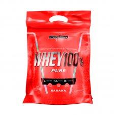 Whey Protein 100% Pure Banana IntegralMédica Refil - 1,8 Kg
