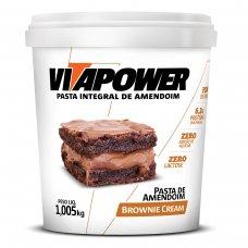 Pasta de Amendoim Brownie Cream Vita Power - 1kg