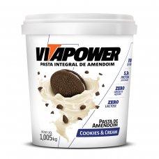 Pasta de Amendoim Cookies e Cream Vita Power - 1kg