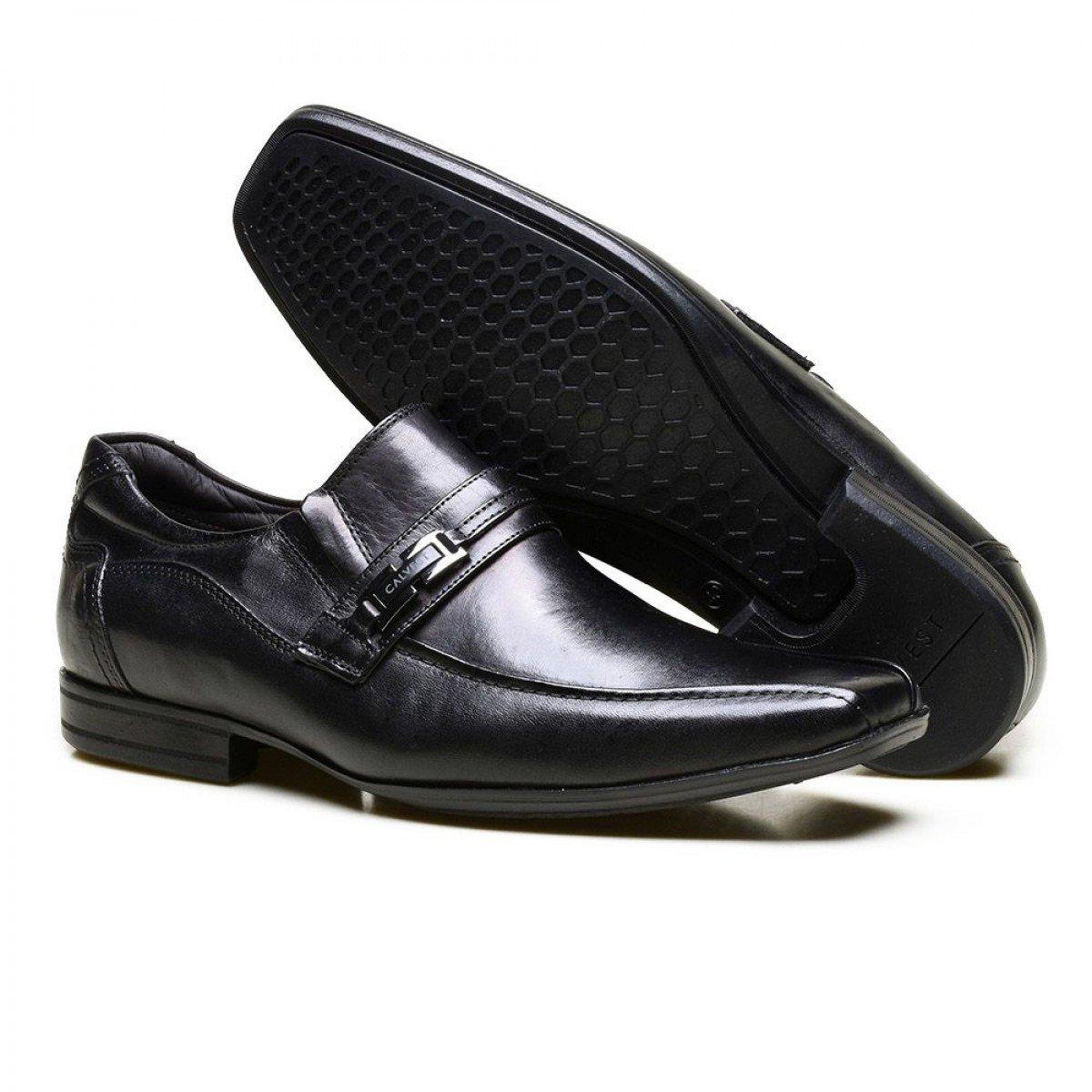 13dd3ba413 Sapato Social Calvest Em Couro E Metal Onix Kit 5 em 1 - Preto ...