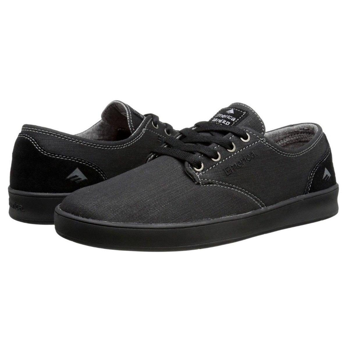 Tênis Skate Emerica The Romero All Black Import - Preto