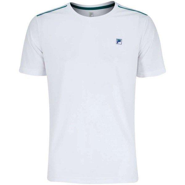 Camiseta Fila Aztec Box Masculina - Branco e Verde Escuro
