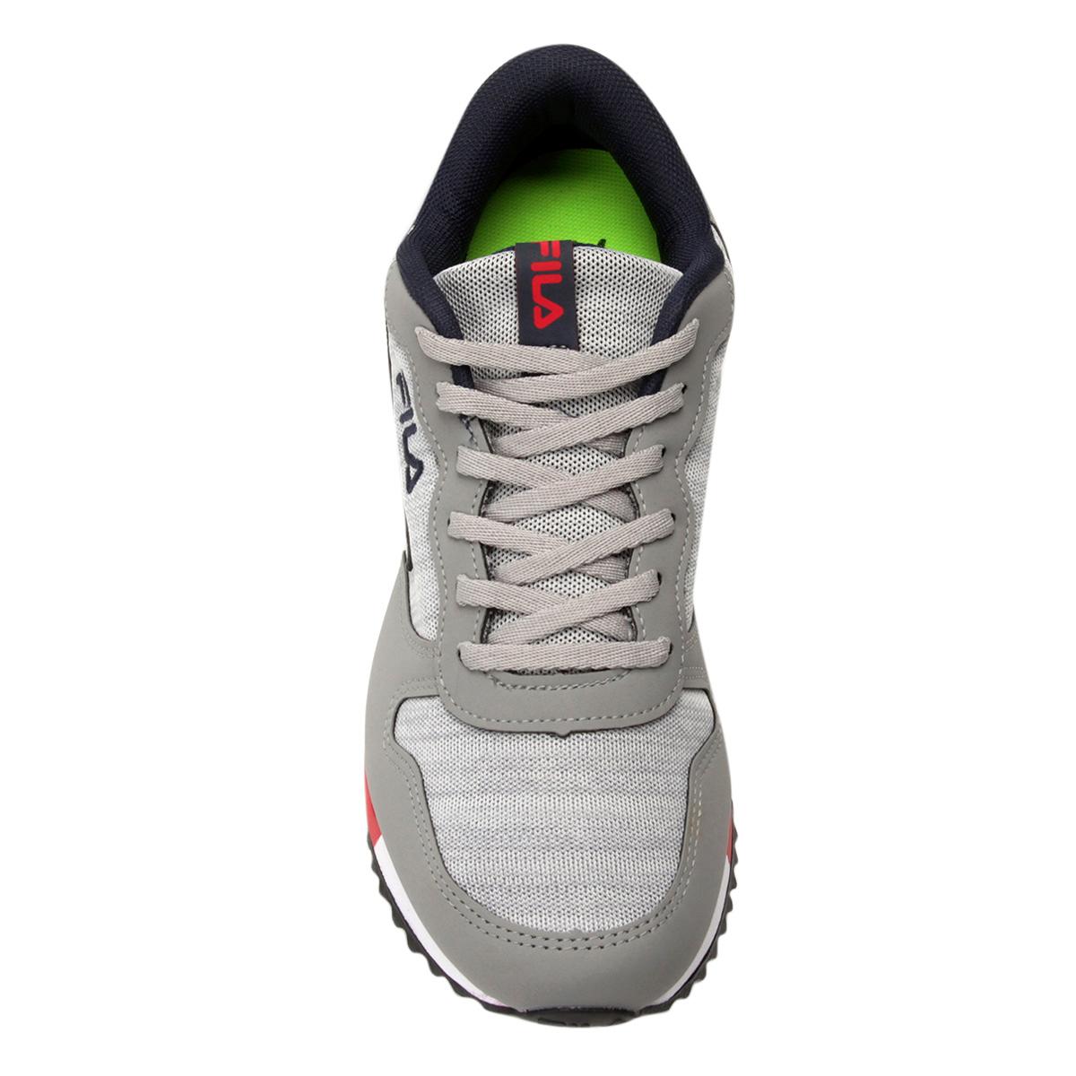 a6ec772a127 Tênis Fila Jogger Euro Sport Masculino Cinza e Vermelho - Compre ...