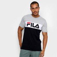 Camiseta Fila Letter Colors Masculina - Preto e Cinza
