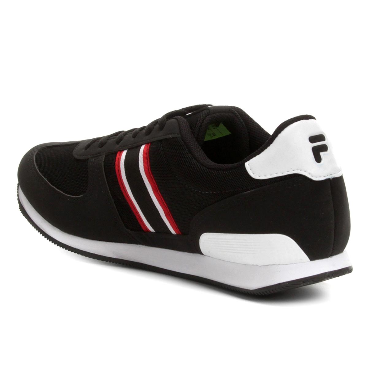fe4e68c7d5cda Tênis Fila F-Retrô Sport SL Masculino Preto e Vermelho - Compre ...