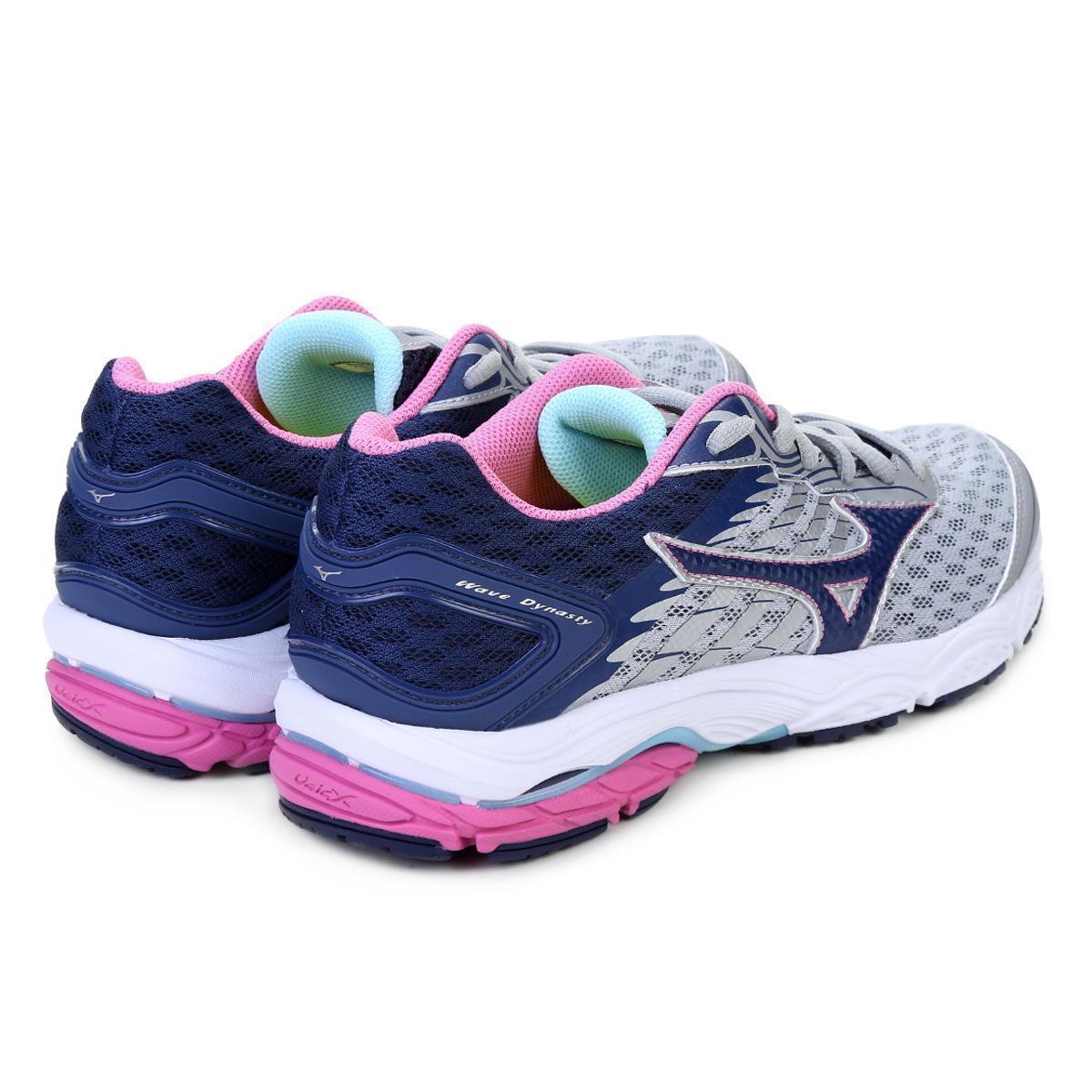 c984018a0a295 Tênis Mizuno Wave Dynasty Feminino Prata Rosa e Azul - Compre Agora ...