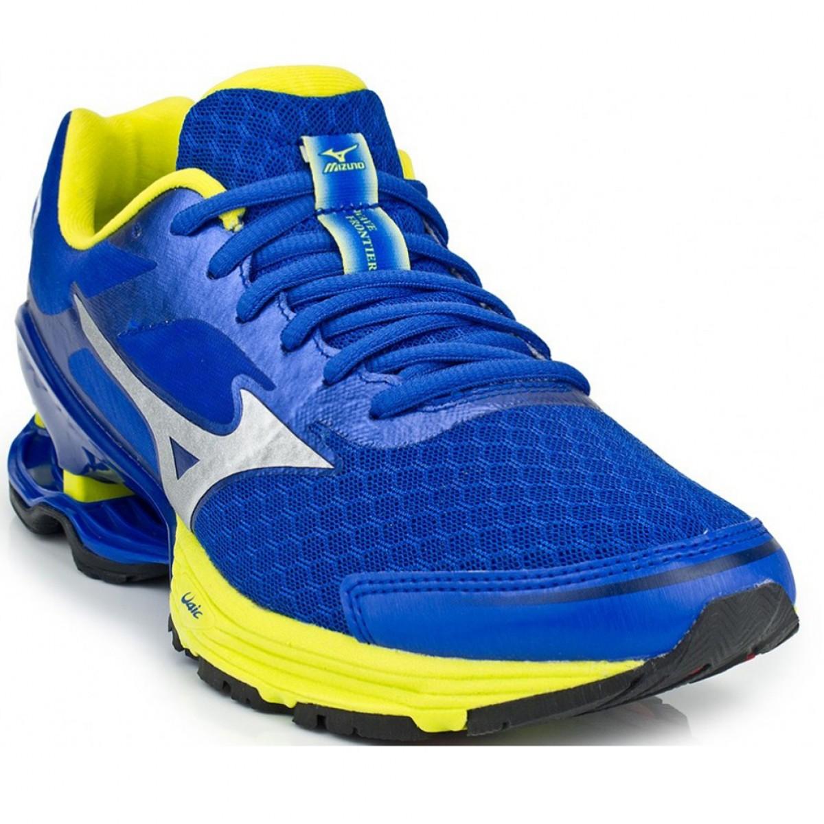 Tênis Mizuno Wave Frontier 8 Masculino Azul e Amarelo - Compre Agora ... 07c04aff131