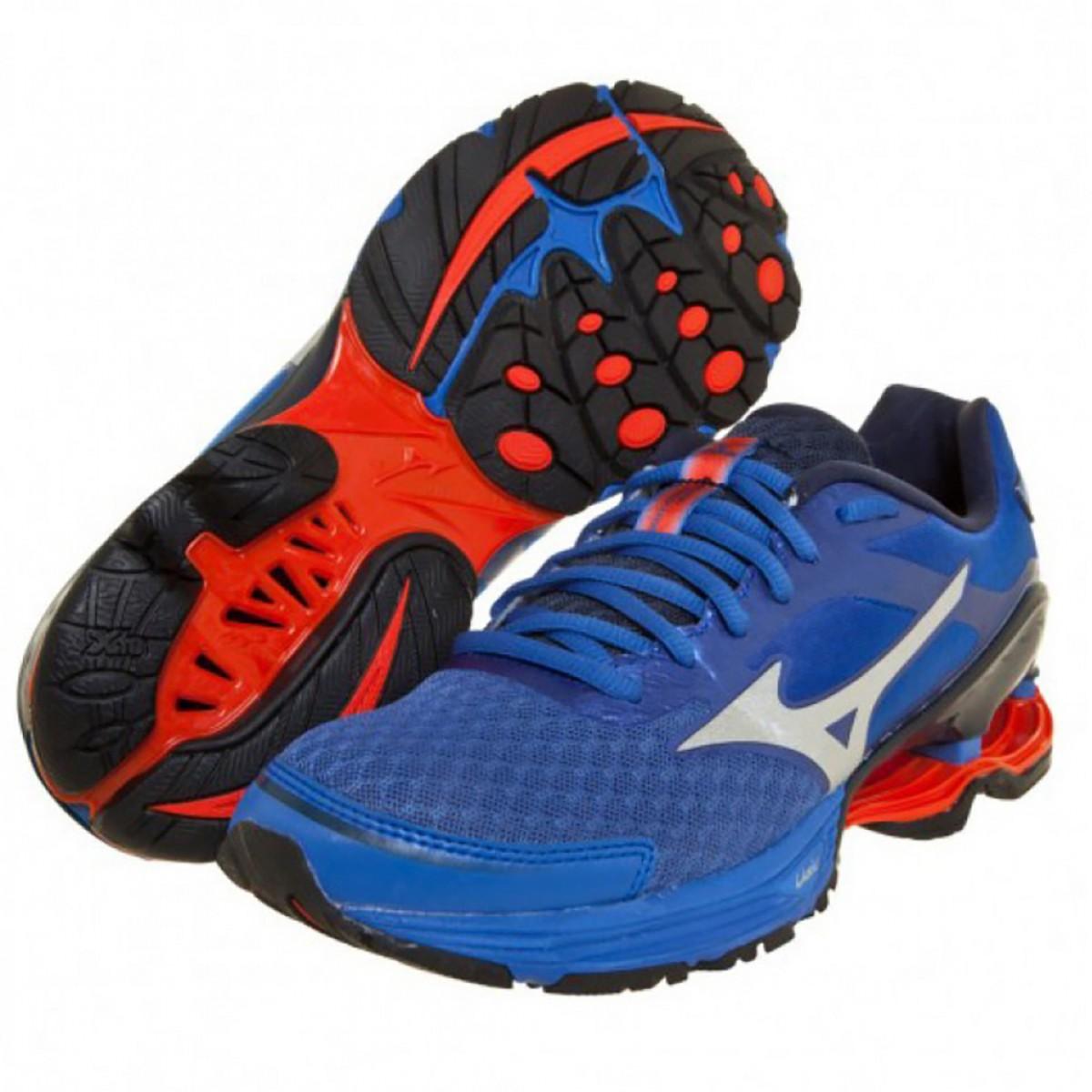 b079600e278 Tênis Mizuno Wave Frontier 8 Masculino Azul e Laranja - Compre Agora ...