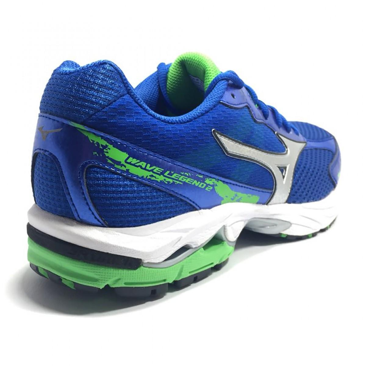 a851af689d Tenis Masculino Mizuno Legend 2 Azul e Verde - Compre Agora