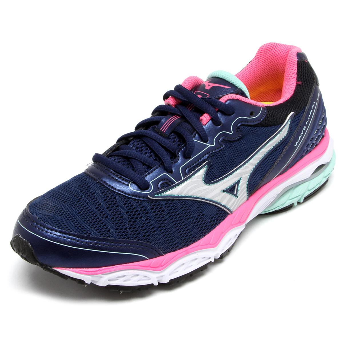 Tênis Mizuno Wave Mirai Feminino Azul e Verde - Compre Agora ... 1c0b2caf357d7