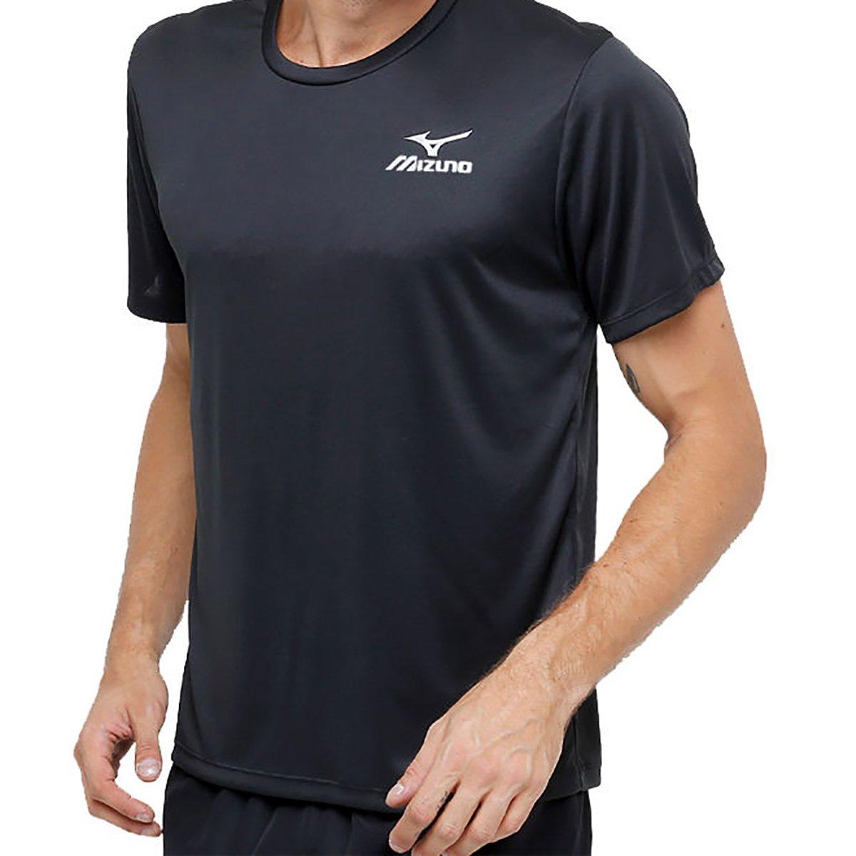 Camiseta Mizuno New Com Proteção UV Masculina - Preto