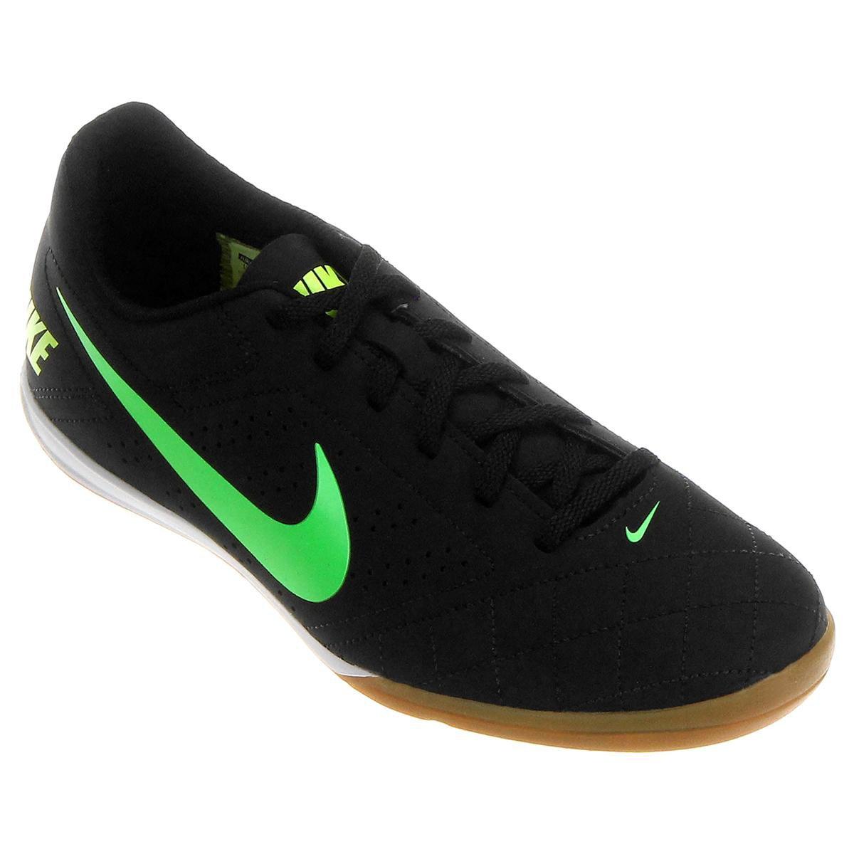Chuteira Futsal Nike Beco 2 Masculina - Preto e Verde Limão