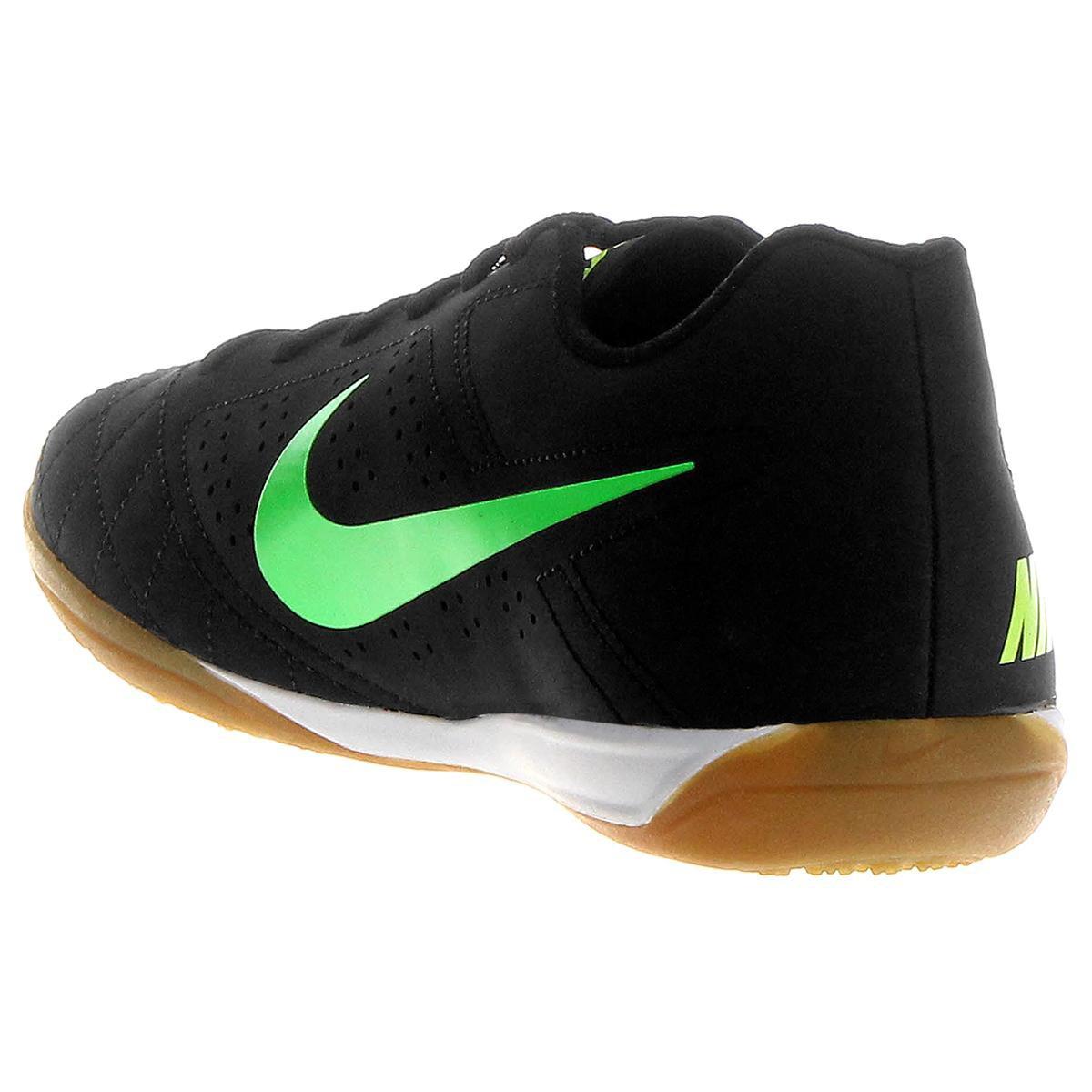 e1575215bf Chuteira Futsal Nike Beco 2 Masculina Preto e Verde Limão - Compre ...