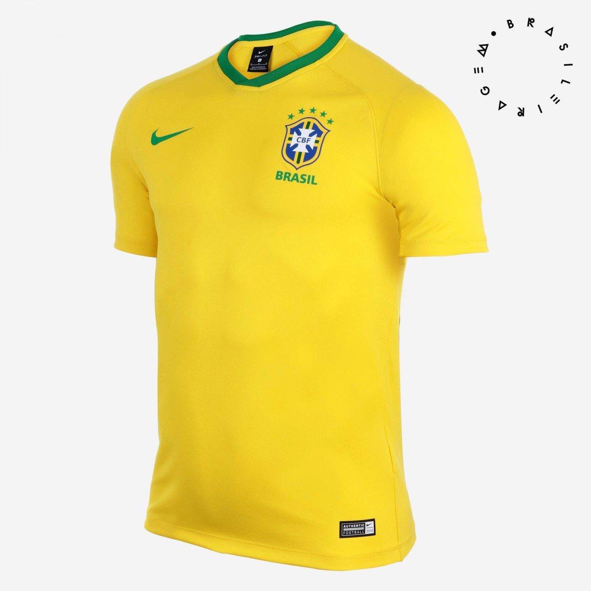 4037922144 Camisa Nike Brasil I 2018 19 Torcedor Estádio Masculina - Compre ...
