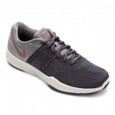 Tênis Nike City Trainer 2 Feminino - Cinza e Laranja