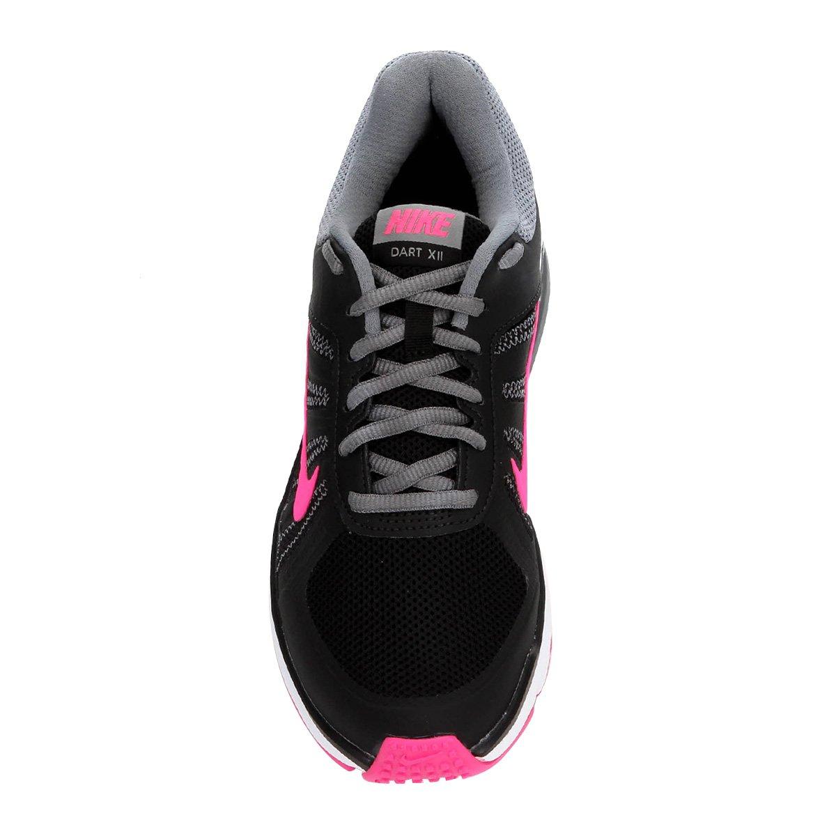 675a70970bcec Tênis Nike Dart 12 MSL Feminino Preto e Pink - Compre Agora