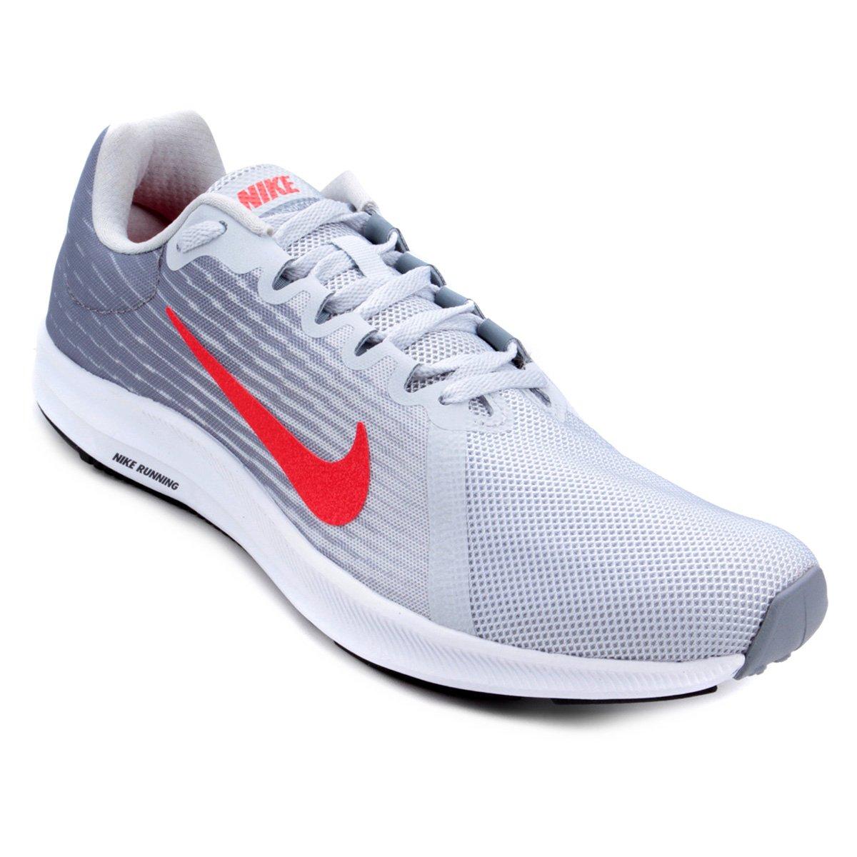 f0f8cbe30d Tênis Nike Wmns Downshifter 8 Masculino Cinza e Vermelho - Compre ...
